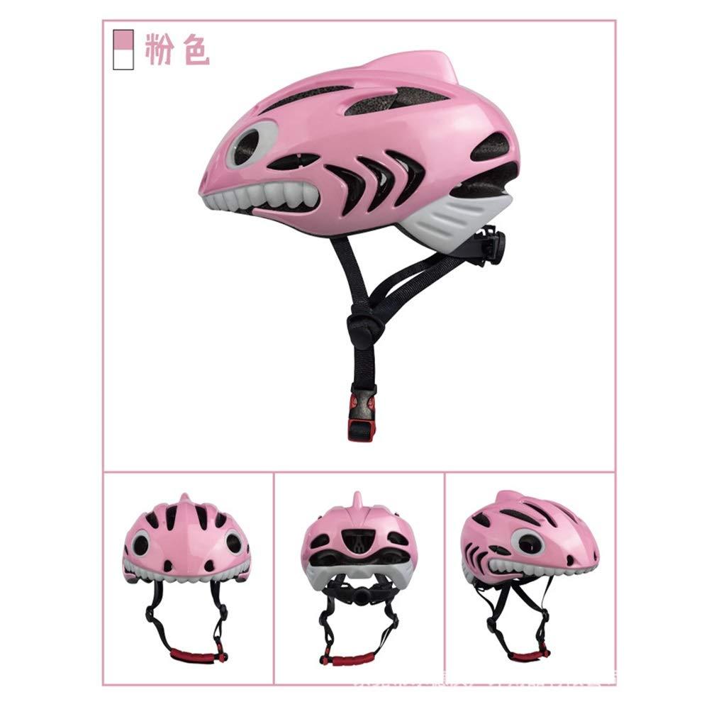 幼児用ヘルメット ヘルメット こども用 自転車 キッズ 軽量 子供用スケートボードヘルメット 通気性 保護 調整可能 小学生 スポーツヘルメット (Color : Pink)   B07QKBK91H