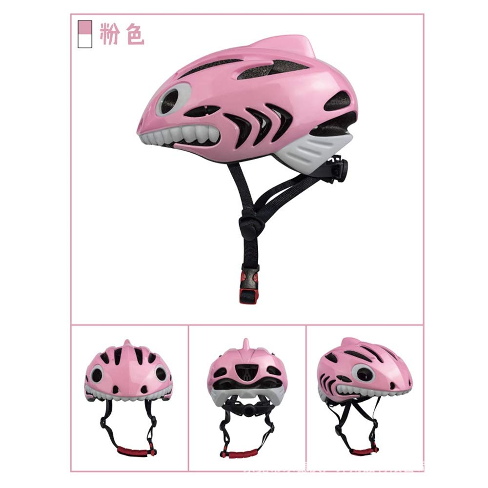 Helmet Children's Bicycle Kids Lightweight Skateboard Helmet for Children Breathable Protection Adjustable Primary schoolchild Sports Helmet (Color : Pink)