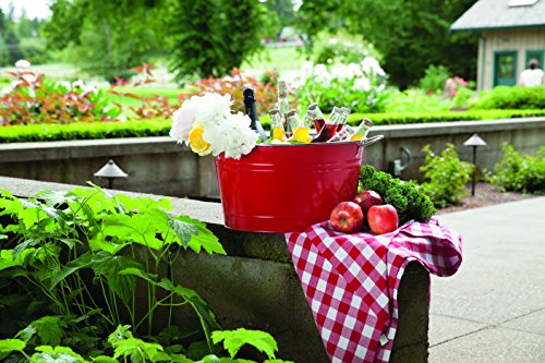 Twine Country Home Large Red Galvanized Metal Tub and Drink Bucket by by Twine (Image #3)