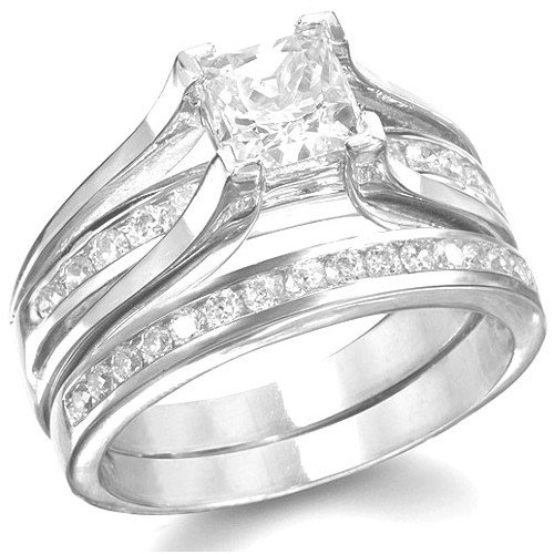 Amazoncom KingswayJewelry His Her 3Piece Women Sterling Silver