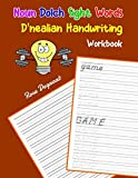 Noun Dolch Sight Words D nealian Handwriting Workbook: Practice dnealian tracing and writing penmaship skills