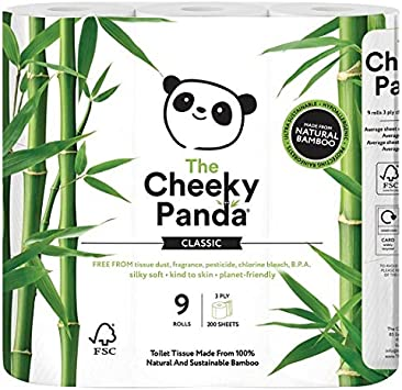 The Cheeky Panda Plastic Free Cocktail Napkins 4 fold 0.03 kg