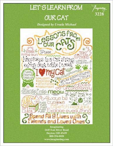 Let's Learn from Our Cat (Chart 3228) Cross Stitch Chart