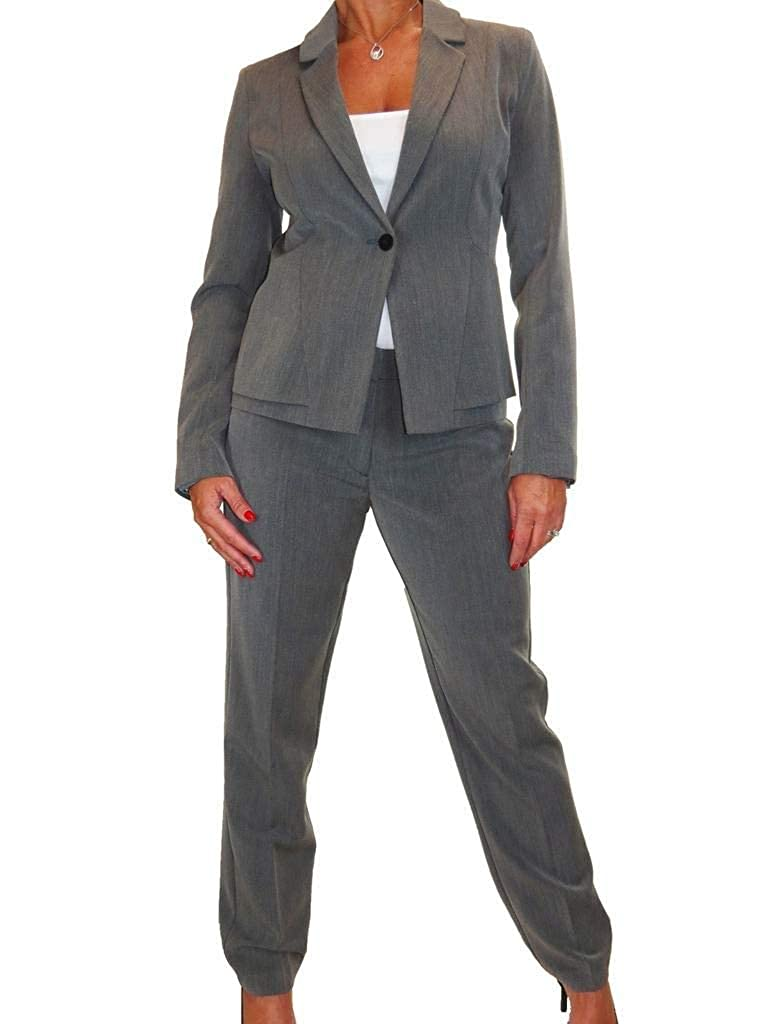 Marl Grey ICE Business Work Lined Jacket Trousers Suit Washable 616