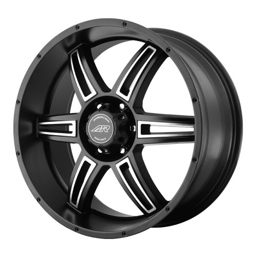 American Racing Custom Wheels AR890 Satin Black Wheel With Machined Accents (18×8″/5x120mm, +35mm offset)