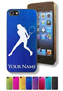 Apple iPhone 6 plus 5.5 Case/Cover - WOMAN TENNIS PLAYER - Personalized for FREE (Click the CONTACT SELLER button after purchase and send a message with your case color and engraving request)