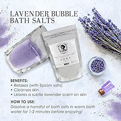 Therapeutic Lavender Bath Salt - Invigorating Epsom Salt Bath Soak – Anti-aging Lavender Bath Salt – Dead Sea Salt Minerals for Soft Skin - Aromatherapy Bath Salts - Salts with Sobriety