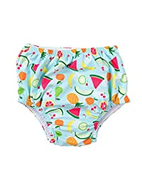 Attraco Baby Girls Reusable Swim Diapers Washable Leakproof Nappies