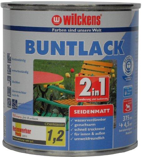Wilckens 2in1 Buntlack seidenmatt, RAL 3000 feuerrot, 375 ml 12430000030