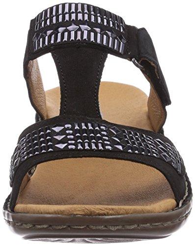 ara Hawaii - zuecos de cuero mujer negro - Schwarz (schwarz 01)