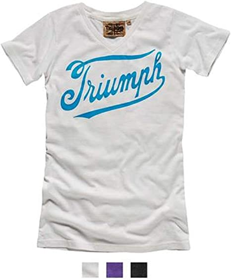 Triumph White Vintage Logo Tee