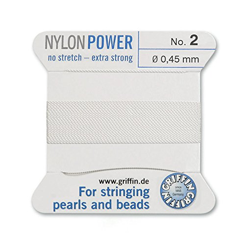 Griffin Bead Cord Nylon White #2