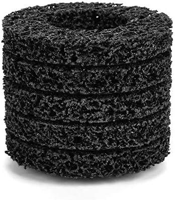 5 STÜCKE 100mm 60# Poly Streifen Rad Disc Schleif Angel Grinder Clean Tool für Rost/Farbe/Abblätternden Materialien Entfernung - schwarz