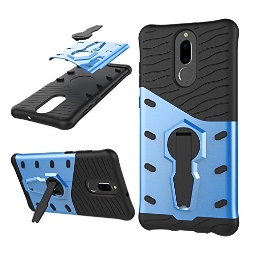 Funda Mate 10 Lite / G10 Carcasa 360 Grados de Rotación Soporte ,TPU + PC de Combinación a Prueba de Golpes,Híbrido Defender Carcasa Duro Prueba de Choques y Dustproof de Caja Protectora para Huawei ( Azul