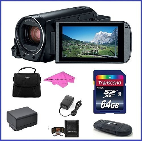 Canon VIXIA HF R800 Full HD Camcorder Bundle, includes: 64GB SDXC Memory Card, Card Reader, Spare Battery and more…