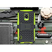 Galaxy S5 Active Case, Cocomii Grenade Armor NEW [Heavy Duty] Premium Tactical Grip Kickstand Shockproof Hard Bumper Shell [Military Defender] Full Body Dual Layer Rugged Cover Samsung G870 (Green)