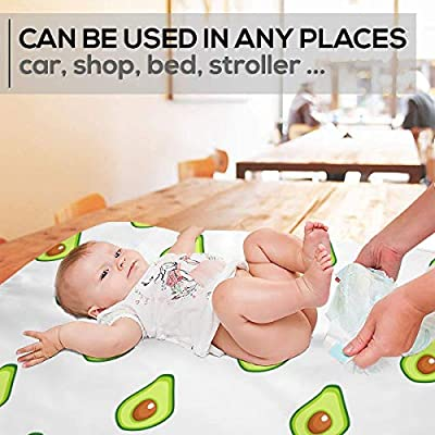 GniDN0 Texture for Eco Pattern Changing Pad - Portable Baby Diaper Changing Mat(27.5â€x19.7â€), Leak Proof, Great for Any Places for Bed Play