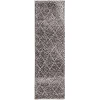 Unique Loom Trellis Shag Collection Dark Gray 2 x 7 Runner Area Rug (2 x 6 7)