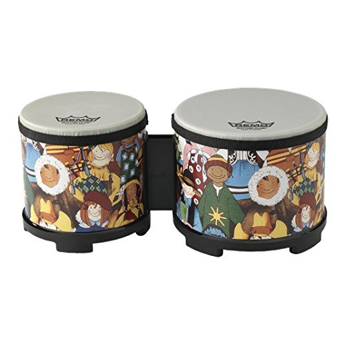 Remo RHYTHM CLUB, Bongos, 5/6 Diameters, Rhythm Kids Graphics RH-5600-00
