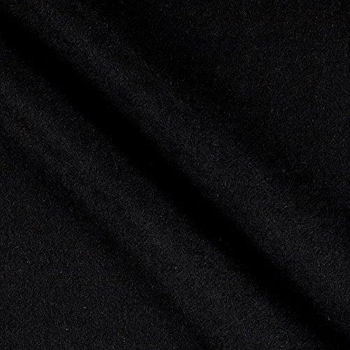 Organic Fleece (TELIO Eco Organic Cotton Hemp Fleece Black Fabric By The Yard)