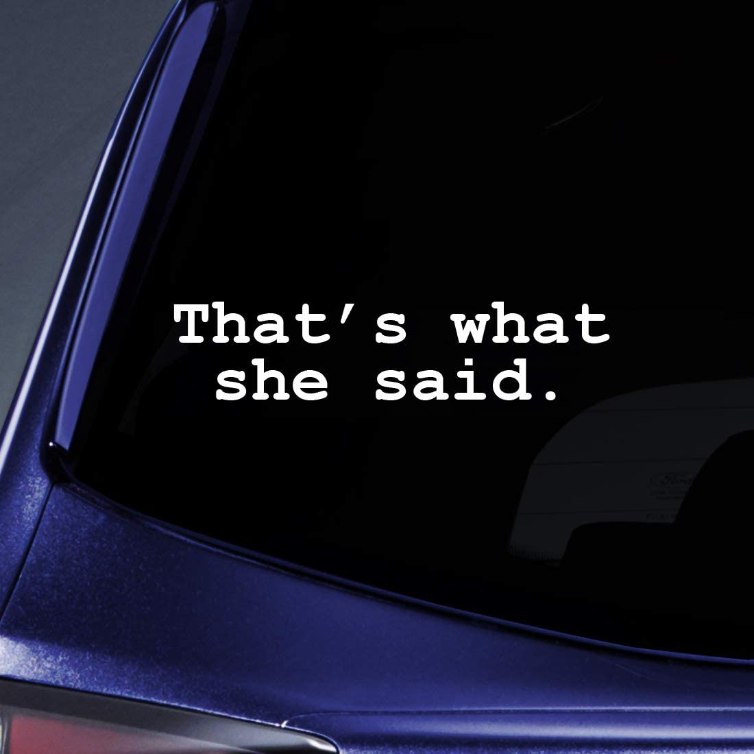 Bargain Max Decals - That's What She Said - Office Sticker Decal Notebook Car Laptop 8