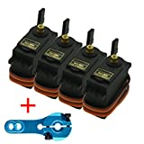 MG995(Pack of 4) + Servo Horn 25T for Futaba JR RC Helicopter Car Truck Boat Robot By IFANCY-TECH