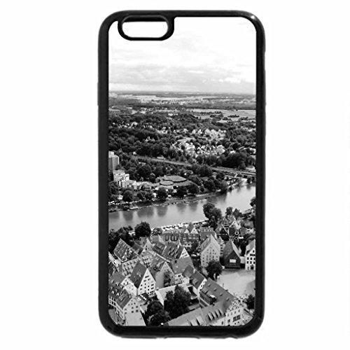 iPhone 6S Case, iPhone 6 Case (Black & White) - Danube River in Ulm, Germany