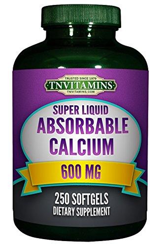 Absorbable CALCIUM 600 Mg Plus Vitamin D 500 IU - 250 Softgels
