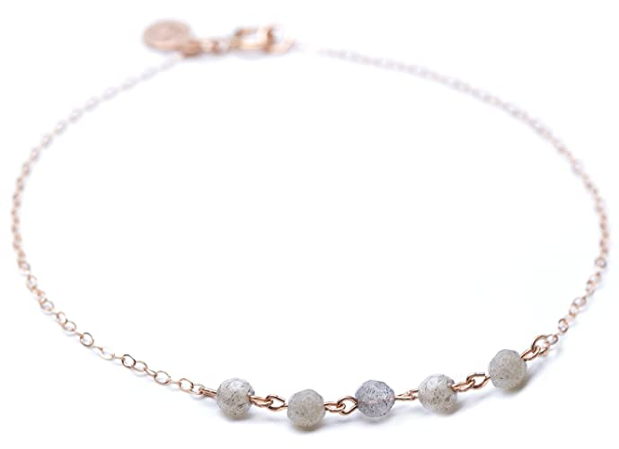 804f70a728b Image Unavailable. Image not available for. Color: Strand Bracelet - Thin  Rose Gold ...