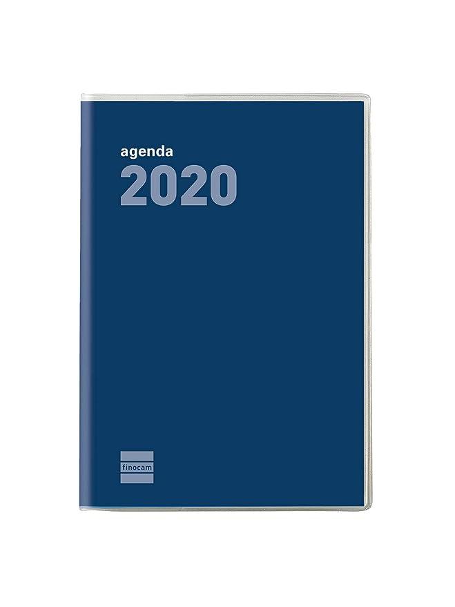 Finocam - Agenda 2020 mes vista Plana Cóctel Azul español ...