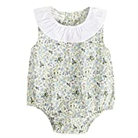 FEITONG Newborn Infant Baby Boy Girls Sleeveless Floral Print Rompers Outfits Clothes