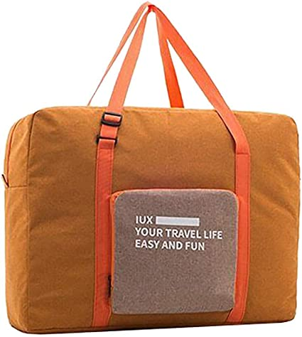 CUEYU IUX Foldable Travel Duffel Bag Sac de Voyage Pliable Sac de Sport Gym R/ésistant /à leau Nylon