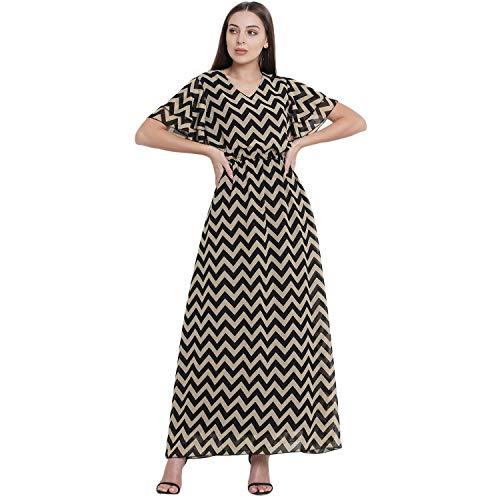 Herzina Women's Chevron Print Long Maxi Dress