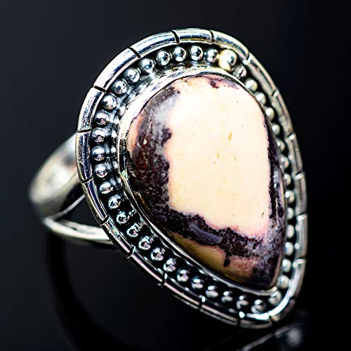 Ana Silver Co Large Red Jasper Ring Size 10 (925 Sterling Silver) - Handmade Jewelry, Bohemian, Vintage RING959021 (Ana Silver Co Jasper Ring)