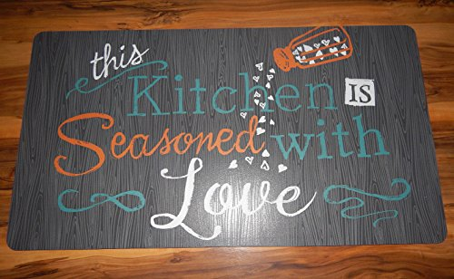 20'' x 36'' Kitchen Mat Cushion Comfort Chef Anti-Fatigue Foam Seasoned W. Love VPKF 124