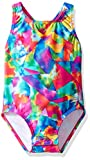 Speedo Printed Racerback One Piece Swimsuit with Snaps, Multicolor, 2T