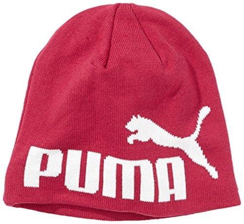 Puma unisex gris Gris Negro rosa No1 única color talla Rosa Beanie Gorro Logo negro wZpwqfC