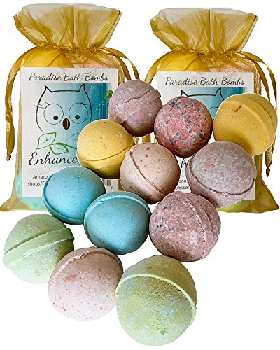 "Double Easter Gift Set, 12 Wholesale Bath Bombs from Enhance Me- Handmade with Shea Butter and Organic Sustainable Palm Oil, ""See, Smell and See The Difference"""
