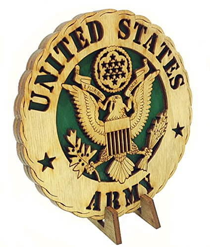 Armed Forces Army Military Decorative Laser Three Dimensional Wooden Desk Plaque (Army Office)