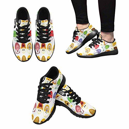 Interestprint Femmes Jogging Running Sneaker Léger Aller Confort De Marche Facile Sport Athletic Shoes Illustration De Jeu Démoticônes