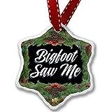 Christmas Ornament Classic design Bigfoot Saw Me - Neonblond