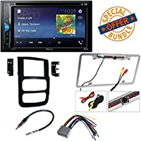 Pioneer AVH-200EX 2-Din 6.2 DVD/CD/iPhone/Android/Bluetooth + Double Din Dash Kit for Dodge Ram Install Stereo Radio 2002 2003 2004 2005 + Rear View Camera
