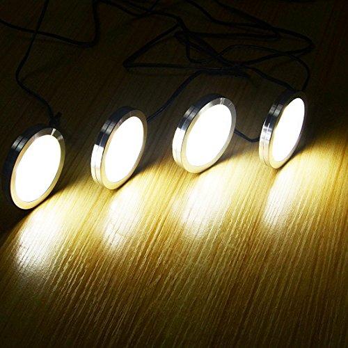 Aiboo LED Under Cabinet Lighting Kit 4 Packs Of 12V Puck