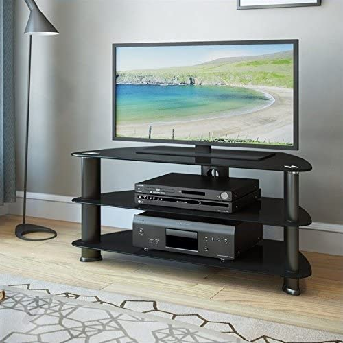 Atlin Designs 55 TV Stand in Satin Black