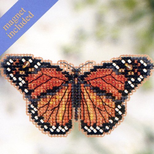 Monarch Butterfly Beaded Counted Cross Stitch Ornament Kit Mill Hill 2012 Spring Bouquet (Beaded Butterflies Kit)