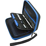 BRENDO New Nintendo 3DS XL / 3DS XL / 3DS Carry-all Hard Case with 8 Game Holders - Black/Blue
