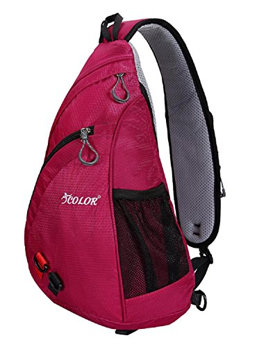 (ICOLOR Sling Bag Chest Backpack Crossbody Shoulder Packs Travel Sports Casual Travel Beach Tote Daypacks for Men Women)