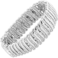 Finecraft 2 ct Diamond 'S' Link Tennis Bracelet Deals