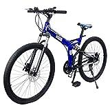 MercadoT Bicicleta Montaña Rodada 26-21 Velocidades Centurfit Azul