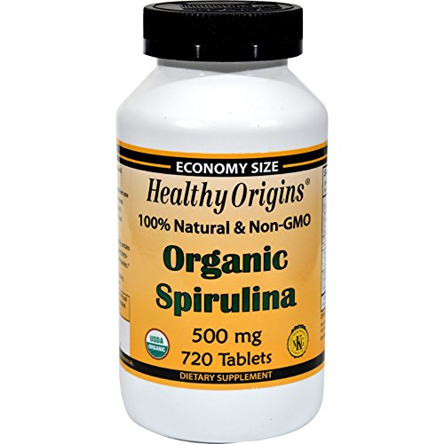 2Pack! Healthy Origins Organic Spirulina - 500 mg - 720 Ct by Natural Supplements